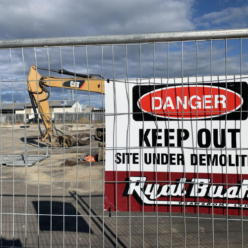 Demolition of buildings completed on a North Rd site for a new fuel station to be built